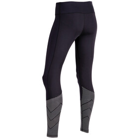 2XU W's Mid-Rise Reflect Compression Tights Long Black/Silver Reflective